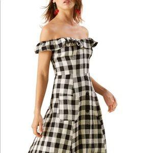 Reformation Hattie Off The Shoulder Dress NWOT
